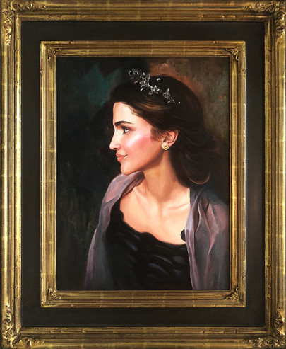 Portrait of Queen Rania by Pavel Sokov