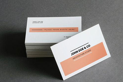 Tarjetas de presentación - Láser
