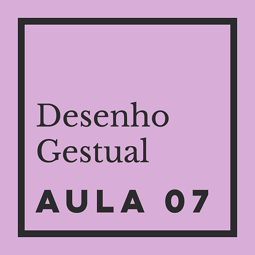 AULA 07:  Gestual de anatomia humana