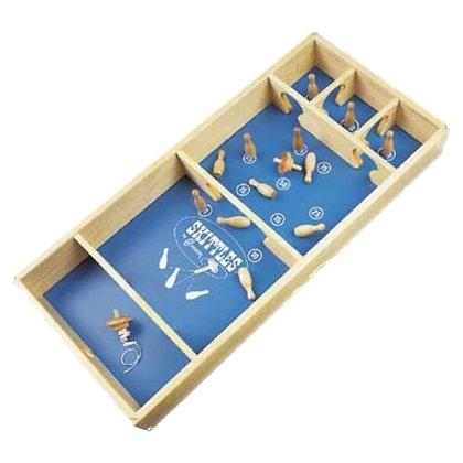 CARROM SKITTLES - spēle: veiklībai, punktu iegūšana