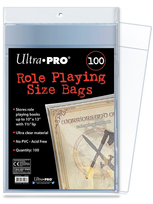 Ultra Pro Comic Series Role Playing Size Bags x 100