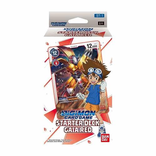 (JAN) Digimon Card Game Series 01 Starter Display 01 Gaia Red