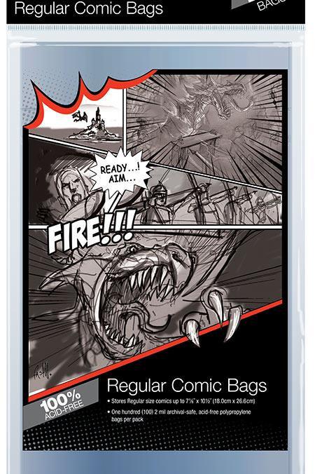 Ultra Pro Comic Series Regular Size Bag x 100