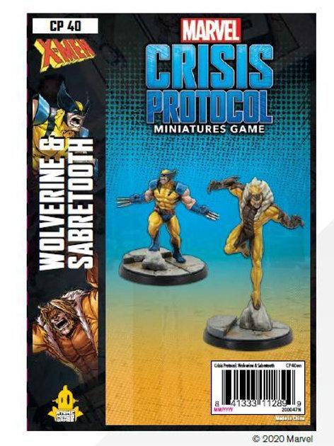 Marvel Crisis Protocol - Wolverine and Sabertooth