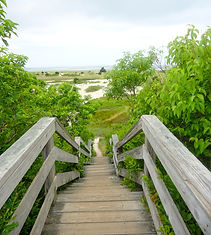 Stairs to Cape Cod Bay