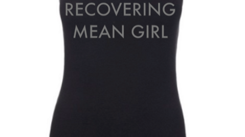 RECOVERING MEAN GIRL BLACK RACERBACK