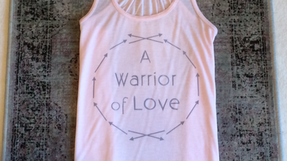WARRIOR OF LOVE RACERBACK FLOWY TANK