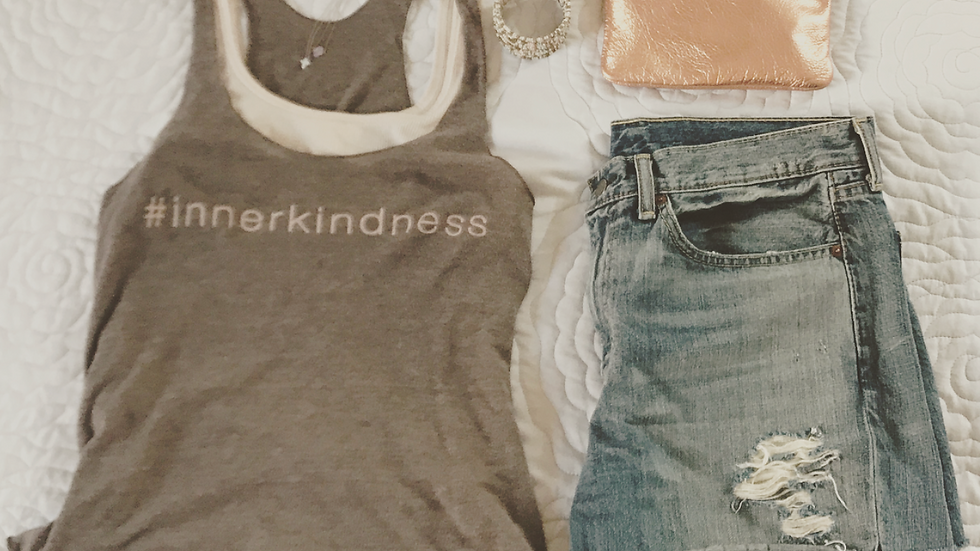 #innerkindness FITTED RACERBACK TANK