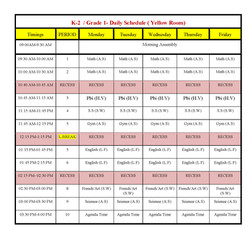 Copy of Daily Class Schedule Term 1-20162