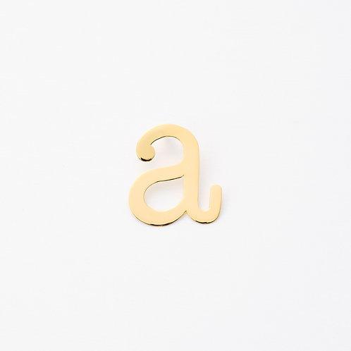 initial  ピアス a(ポストタイプ)