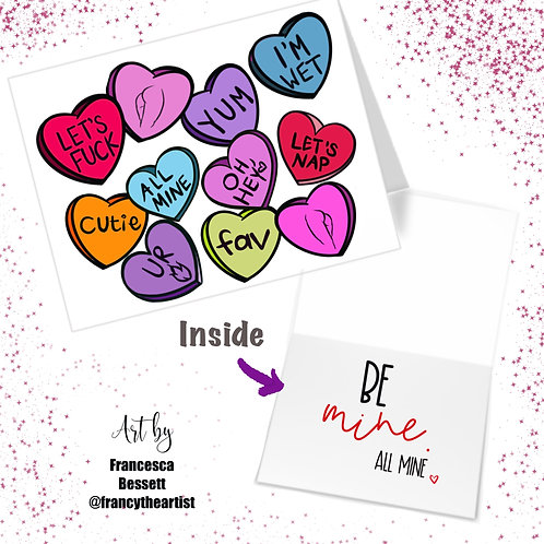 """All Mine"" Adult Valentine's Day Card"