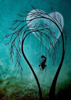 lady in a tree