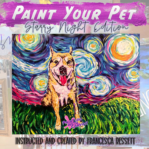 Paint Your Pet- Starry Night Edition