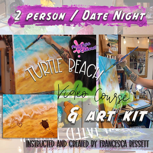 """Turtle Beach"" 2 Person At-Home Art Kit & Video Course"