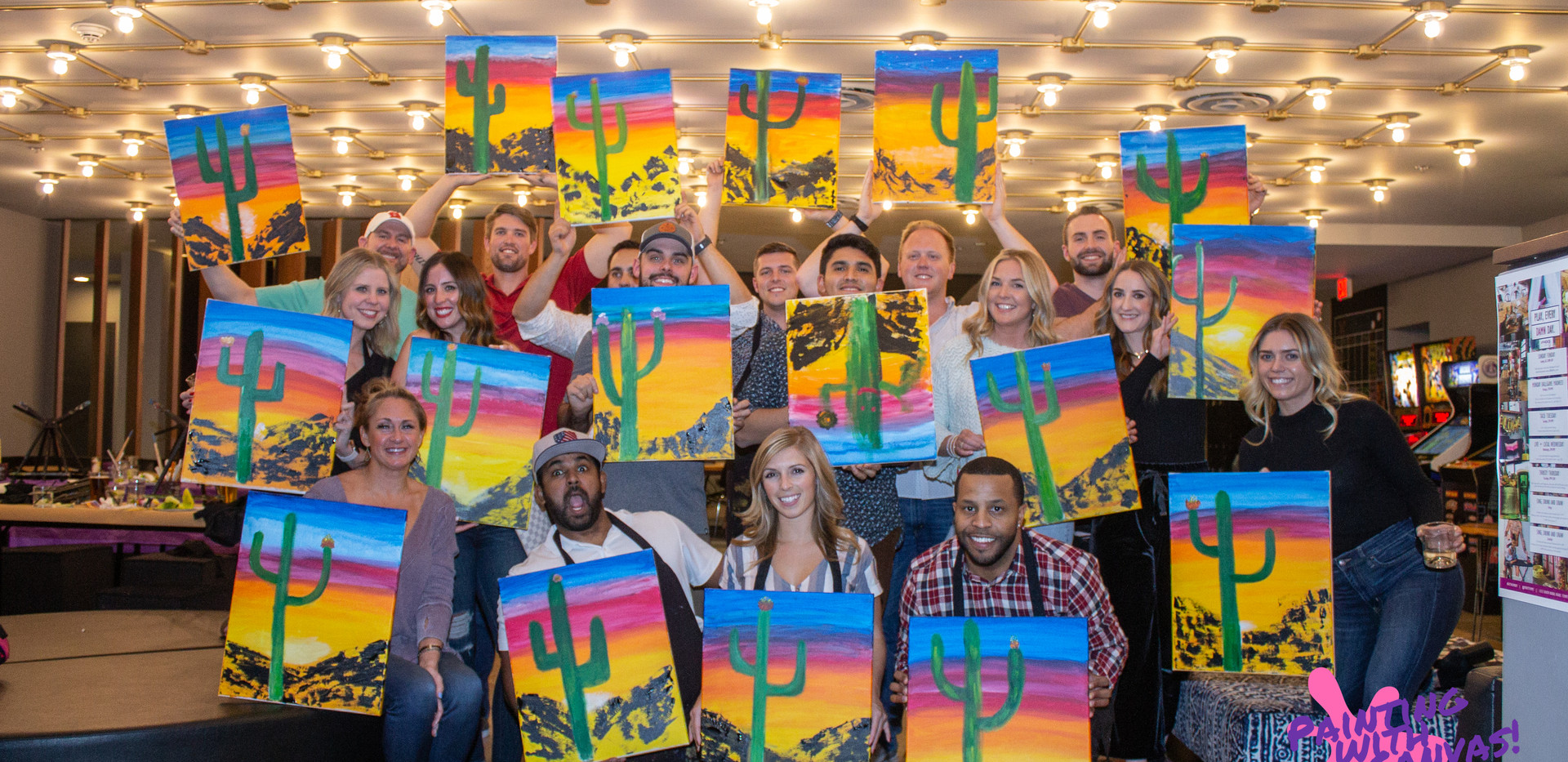 Team Building Painting with Canvas