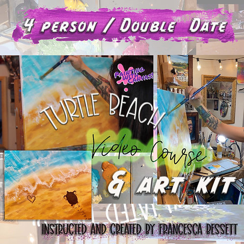 """Turtle Beach"" 4 Person At-Home Art Kit & Video Course"