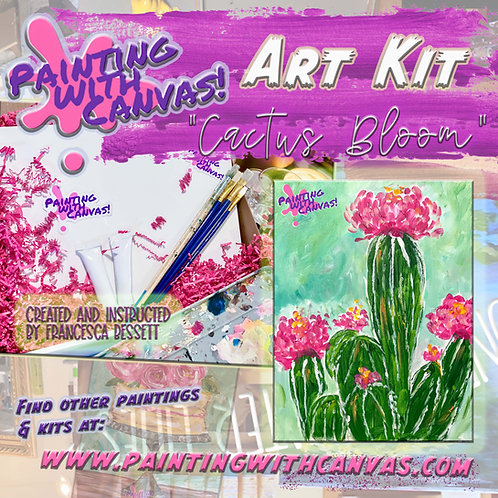 """Cactus Blossom"" 2-person Art Kit"