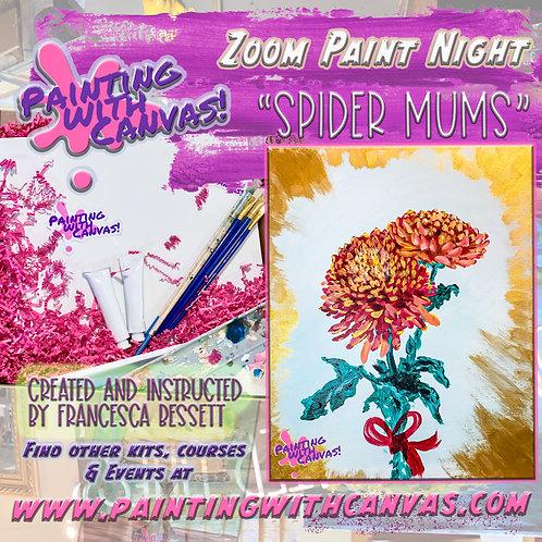 2/13 Zoom Paint Night- 2-Person Spider Mum Flower