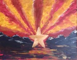 AZ Flag Sunset