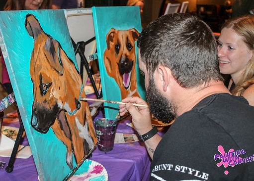 Painting with Canvas Paint Your Pet