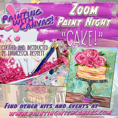 "2/12 Zoom 2-person Paint Night- ""Cake!"""