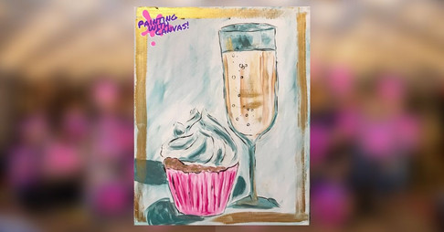 Champagne and Cupcake