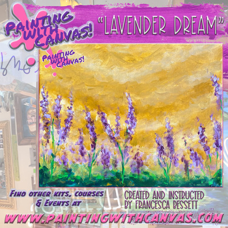 Lavender Dream by Painting with Canvas