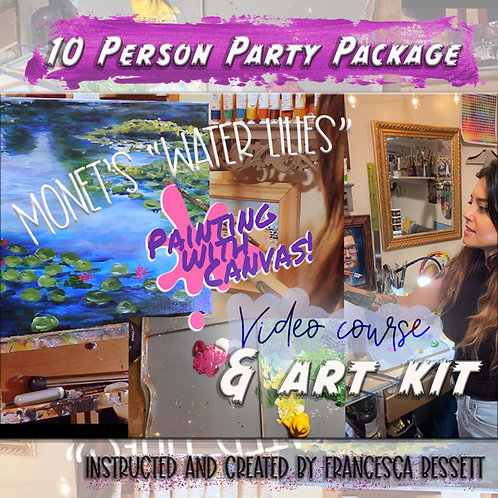 "Monet ""Water Lilies"" 10 Person At-Home Art Kit & Video Course"