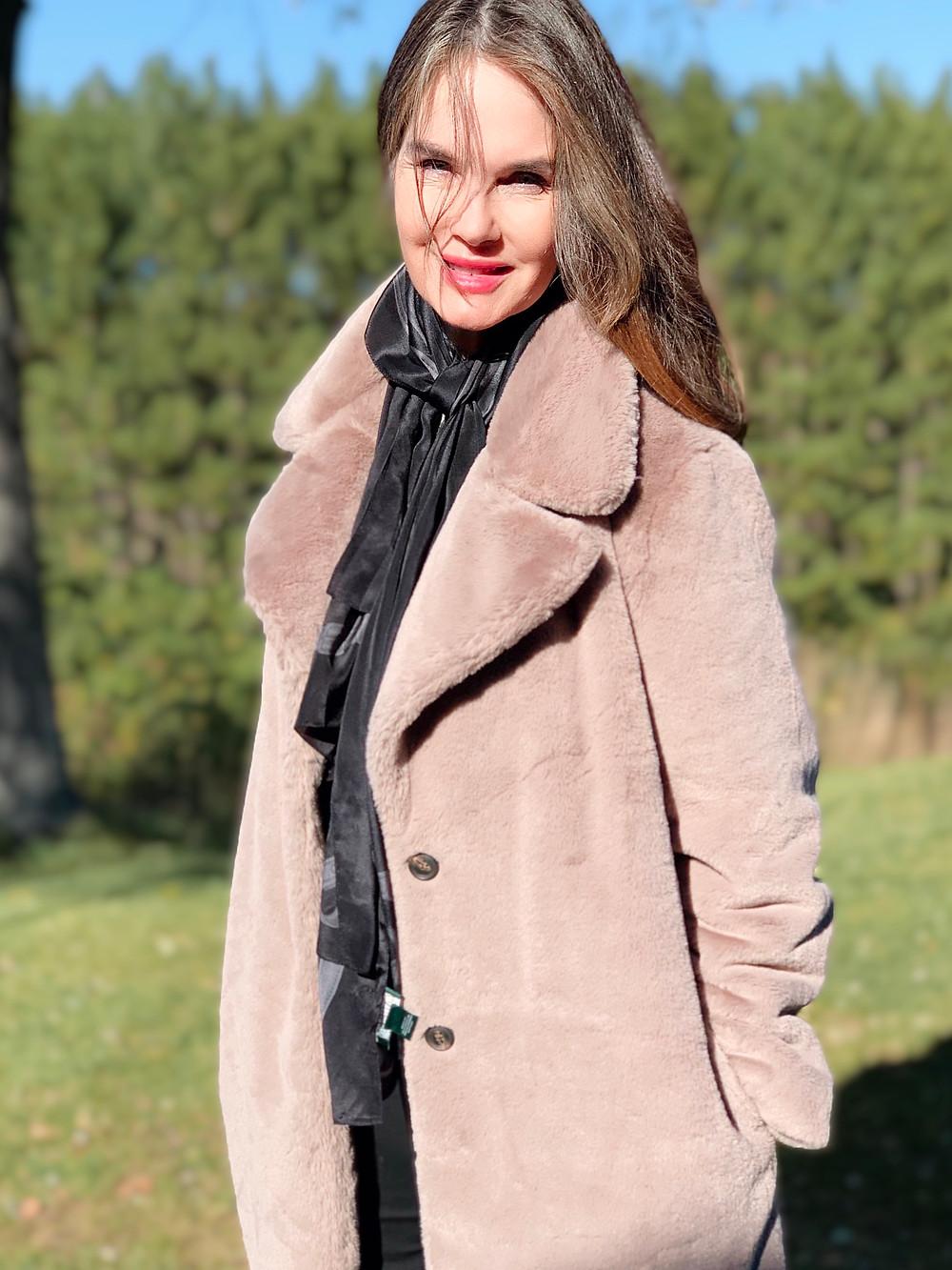 Faux fur coat from Amazon