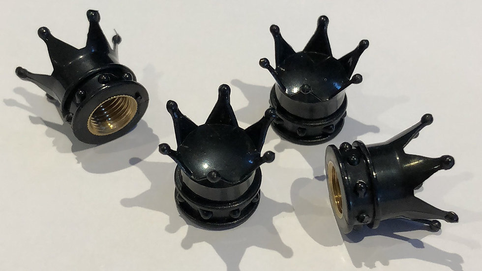 Black Crown Valve Caps