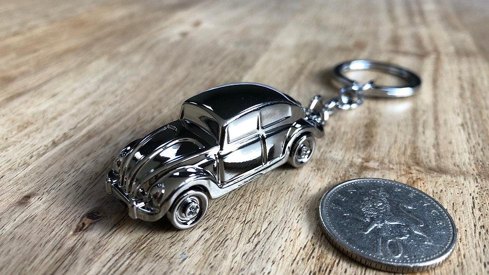 Volkswagen Beetle metal keyring