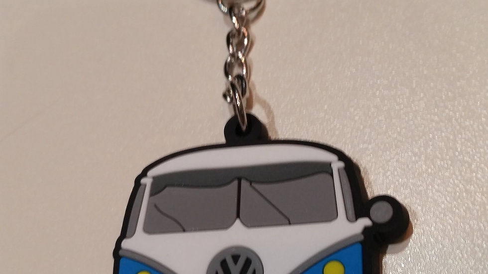 VW split screen camper van Silicone keyring