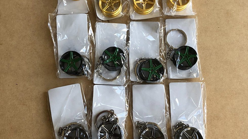 5 spoke Alloy wheel keyrings