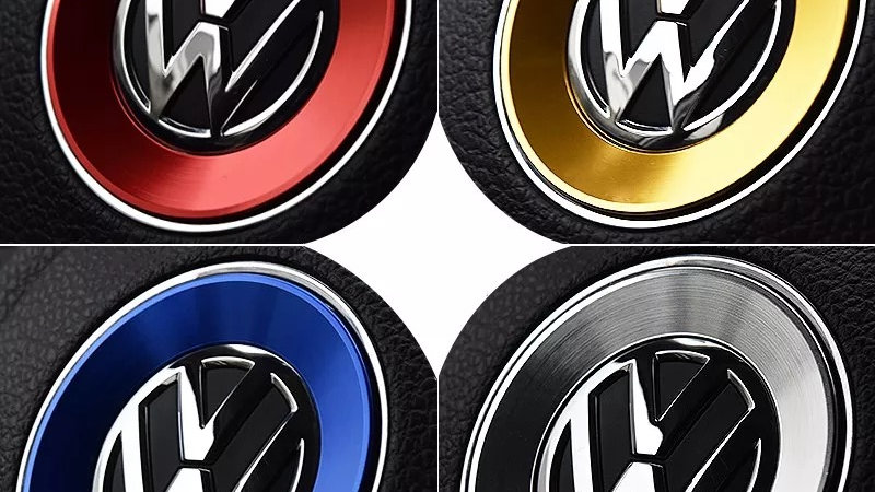 VW steering wheel badge insert