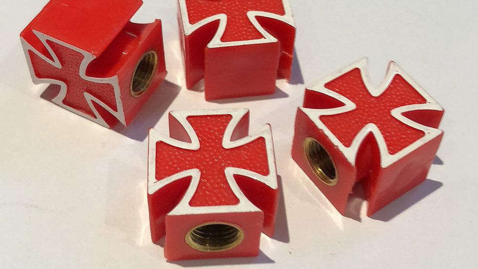 Iron Cross / Maltese Cross valve caps