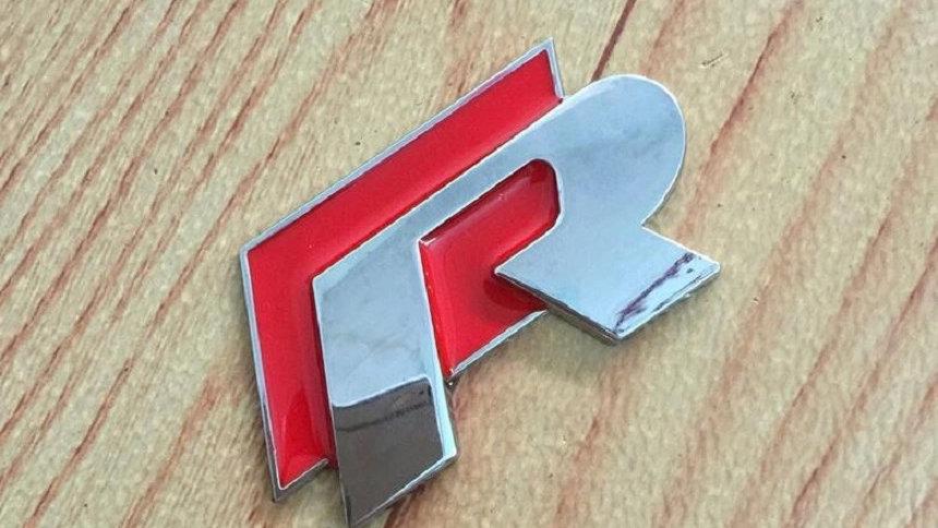 R Line bonnet boot badge