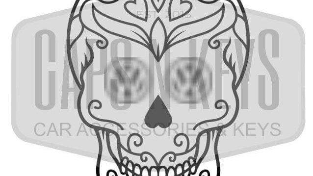 Commersh Veedubs VW Skull decal