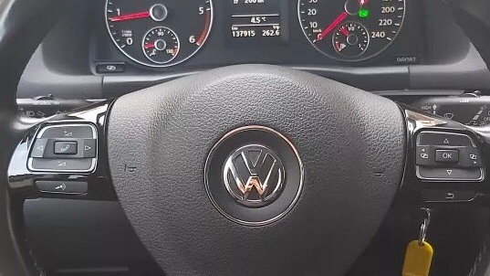 VW piano black MFSW steering wheel inserts