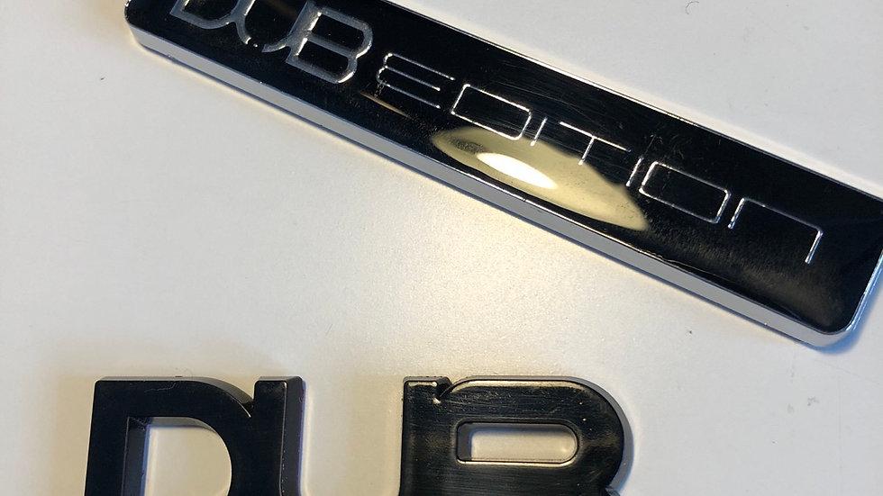 DUB edition vehicle badges