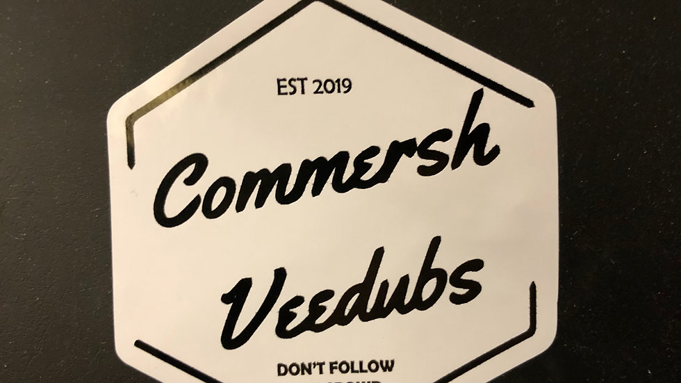 Commersh Veedubs sticker