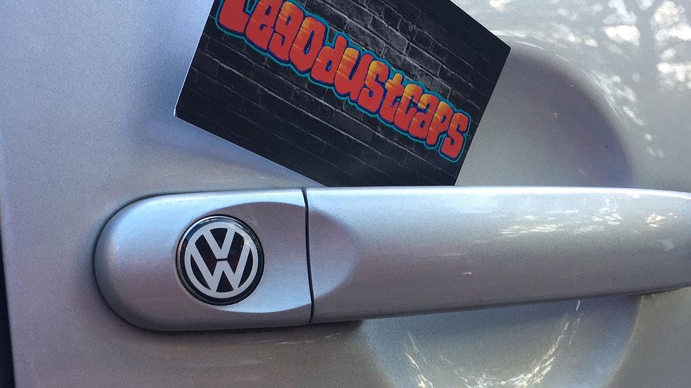 VW 18mm diameter door lock covers/stickers