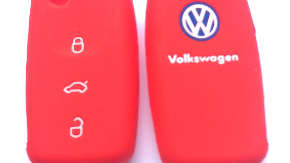 VW 3 button silicone key case