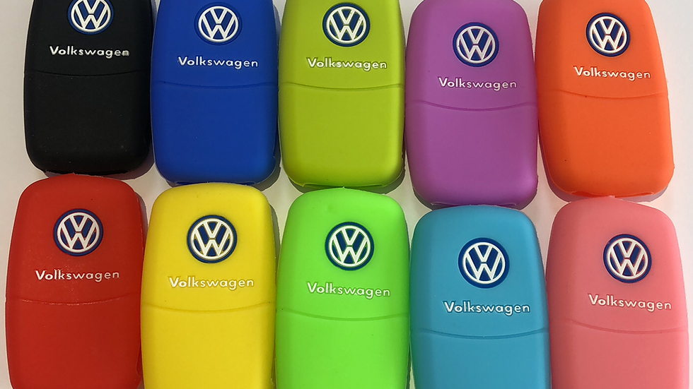VW 2 button silicone key case