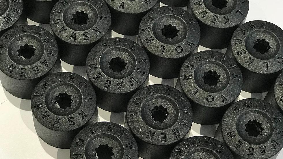 VW 17mm & 19mm embossed wheel nut covers