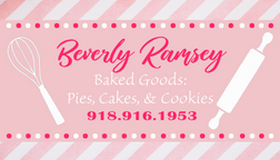 Baking Pink Business Card
