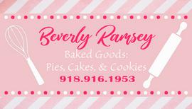 Baking Pink Business Card