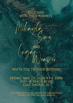 Turquoise/Gold Wedding