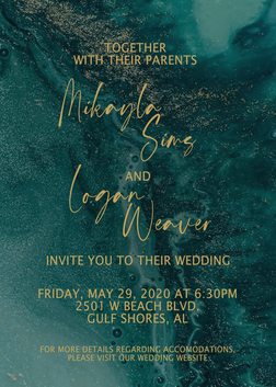 Turquoise/Gold Wedding