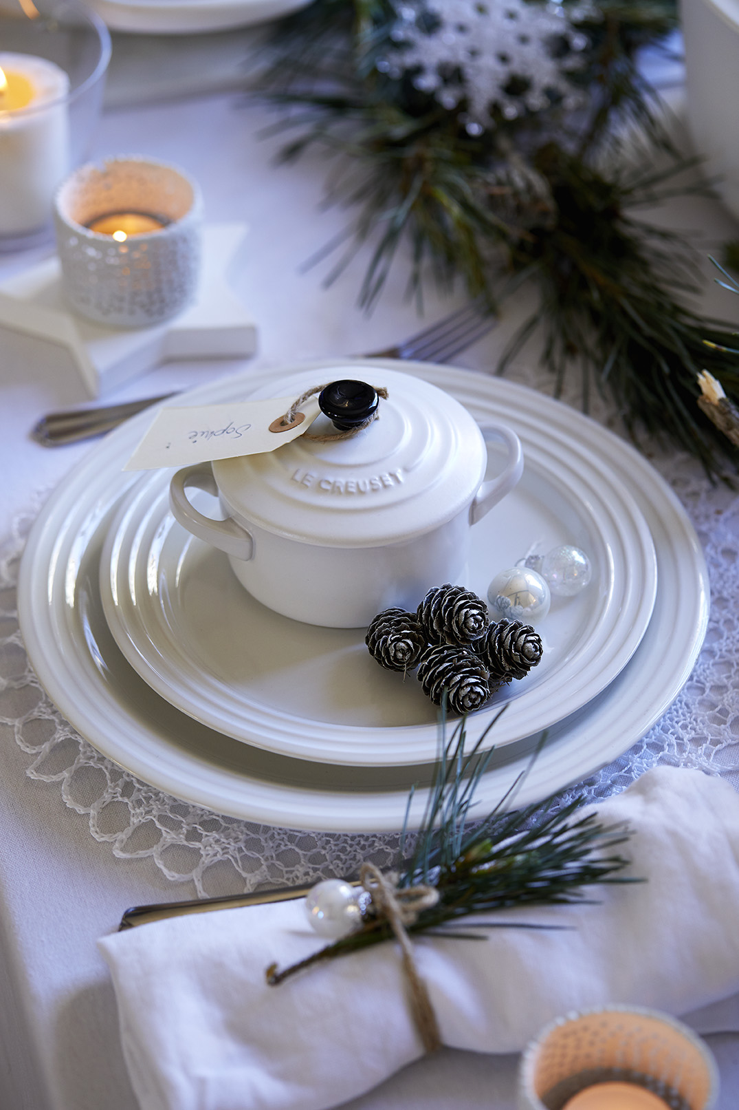 Le Creuset White Christmas