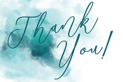 Turquoise Water Color Thank You